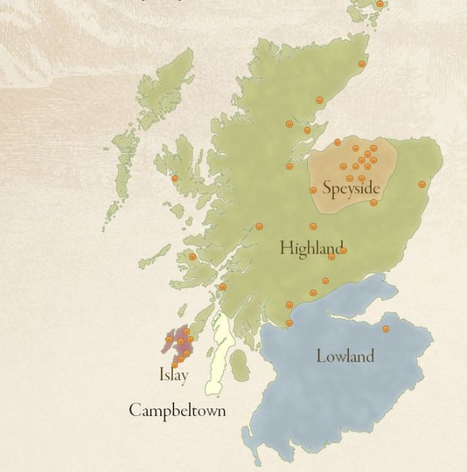 The five regions of Scotland, according to the SWA